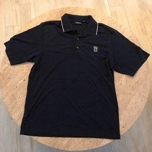 PGA TOUR Authentic Navy Golf Polo